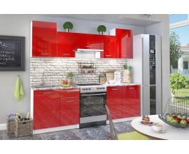 Кухонный гарнитур Бланка (Красный глянец)