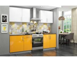 Кухонный гарнитур Хелена (Желтый/белый глянец)