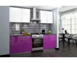 Кухонный гарнитур Хелена (Фиолетовый/белый глянец)