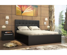Кровать находка с мягкой спинкой 140х200 (Тёмная)