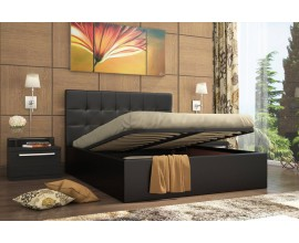 Кровать находка 140х200 с подъёмным механизмом (Тёмная)