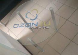 Журнальный столик со стеклом и печатью в озон