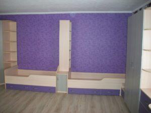 Мебель в детскую на заказ с кроватями
