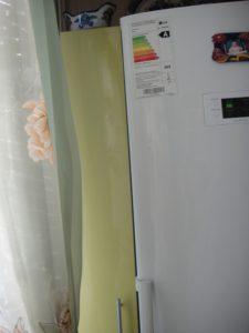 Кухня из пластика фисташковая, на заказ