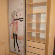 Встроенный шкаф купе в детской