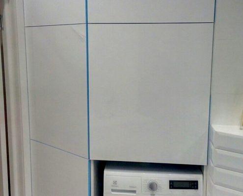 Шкаф для ванной комнаты со встроенной стиральной машиной