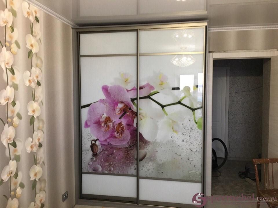"""Шкаф-купе с фотопечатью """"Орхидей"""" на заказ"""