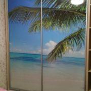 """Шкаф-купе с фотопечатью """"пляж"""" на заказ"""