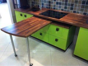 Выдвижной столик для кухни