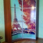 Угловой 2-х дверный шкаф-купе с фотопечатью Парижа