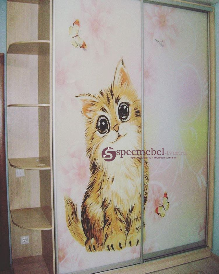 Шкаф-купе с котиком, на заказ