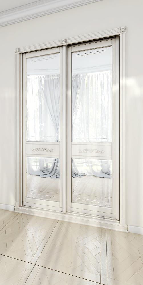 2-х дверный классический шкаф-купе с зеркалами AVIGNON