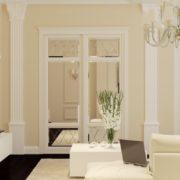 Встроенный классический шкаф-купе флоренция с зеркалами